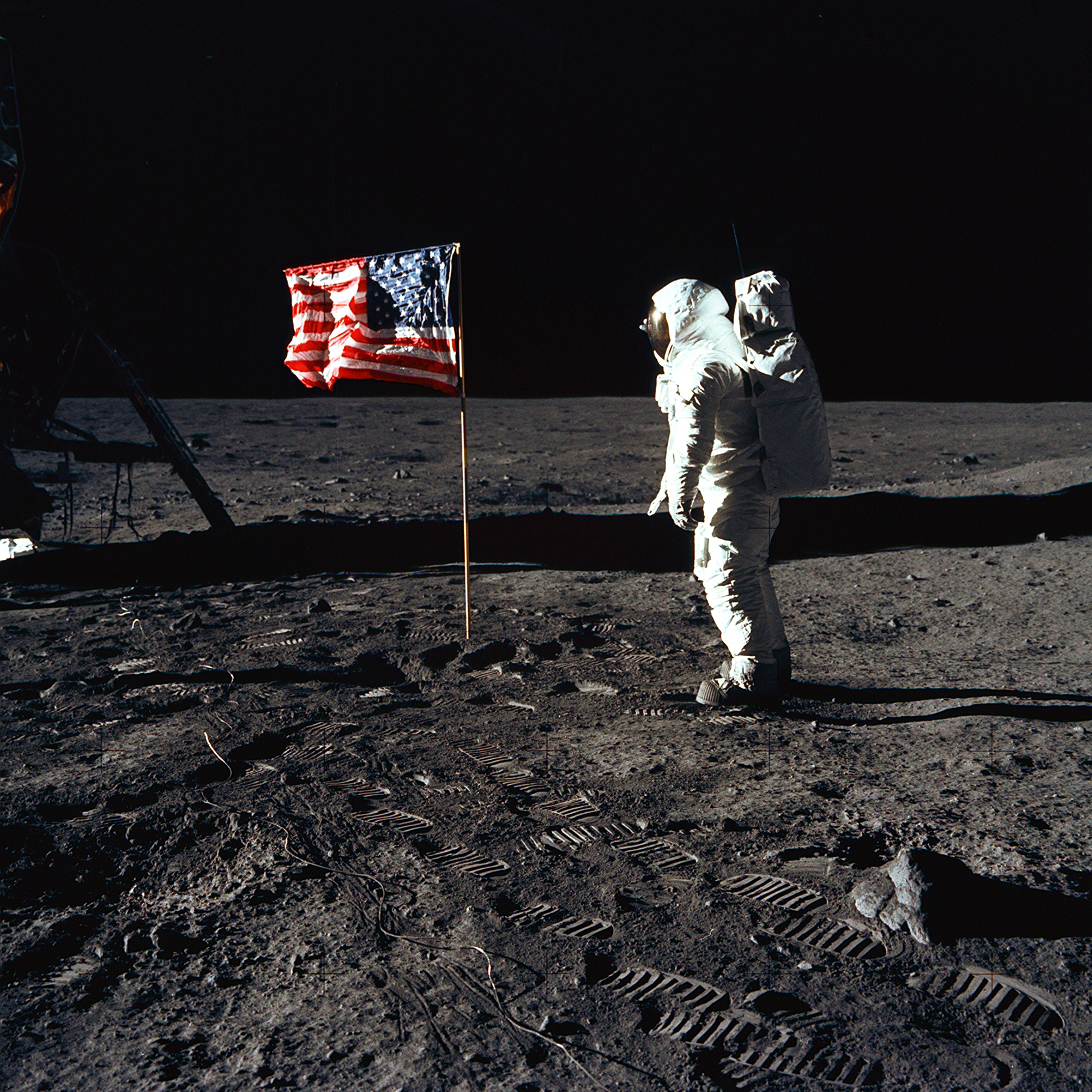 moon landing hoax flag - photo #14